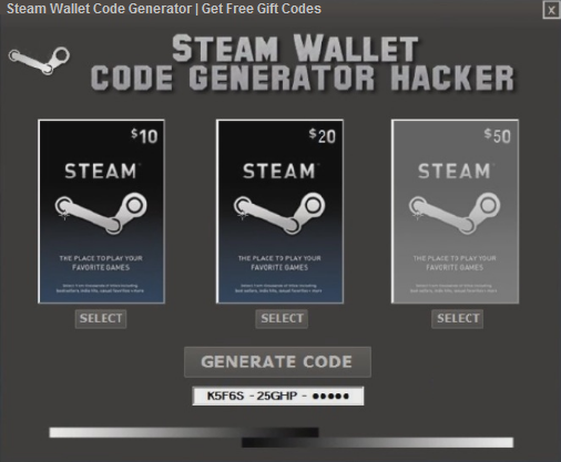 Image result for steam wallet code generator