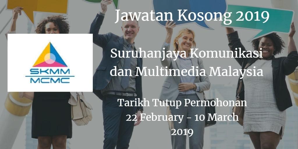 Jawatan Kosong SKMM 22 February - 10 March 2019