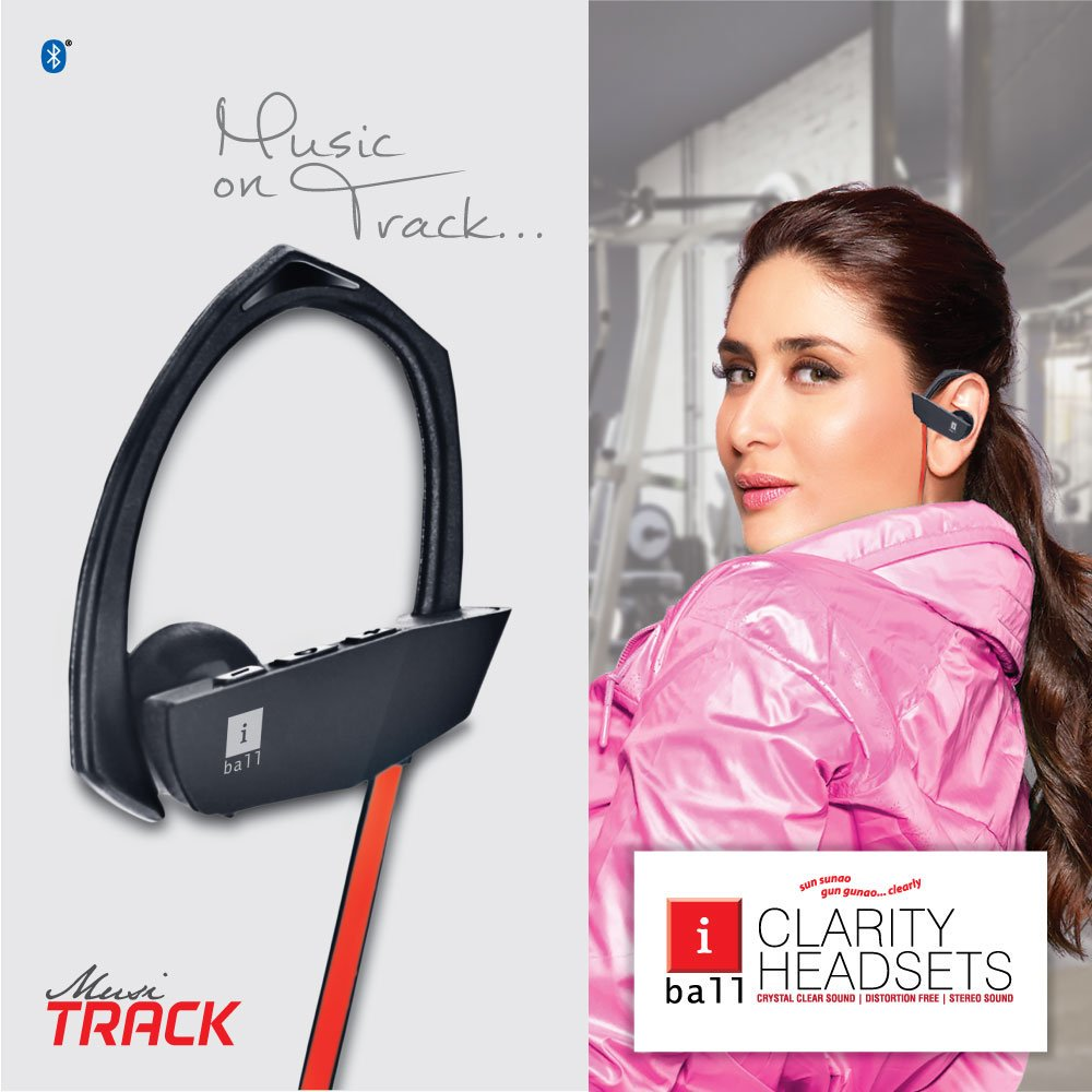 Kareena Kapoor features a new ad for iBall Music Track earphones!
