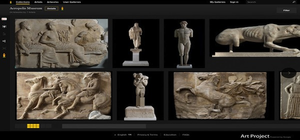 Google Art Project offers digital tour of Greek Museums