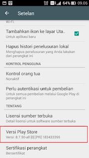 pembaruan aplikasi play store
