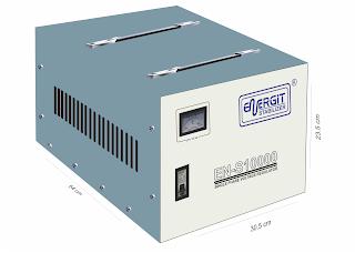 Medidas de estabilizador solido de 10000W 10 kW / 10 kVA - 220vac - Marca Energit