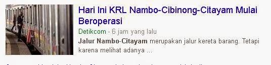Jadwal KRL Nambo Citayam