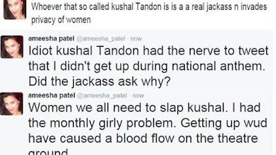 अमीषा पटेल के कुशाल को जवाबी ट्वीट्स