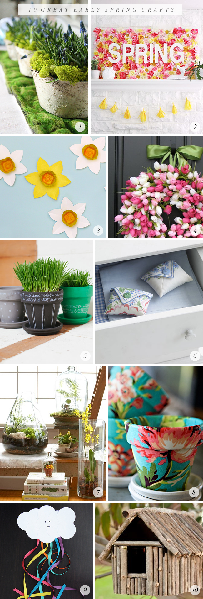 10 Great Early Spring Craft Projects // Bubby and Bean
