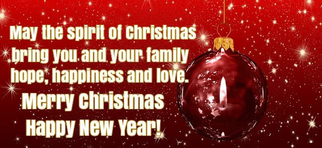 Christmas And New Year Wishes Sayings for Friends