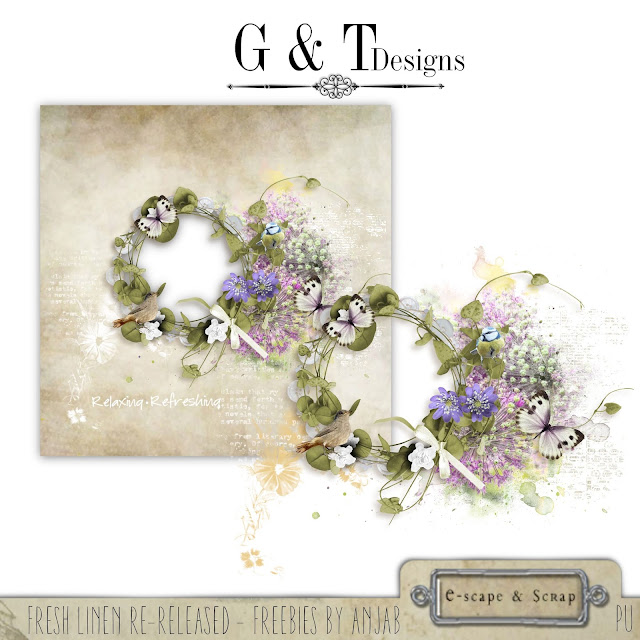 G&T Designs - Fresh Linen Re-release Freebie by Anja Bos