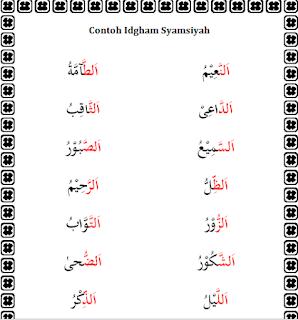 Contoh Idgham Syamsiyah