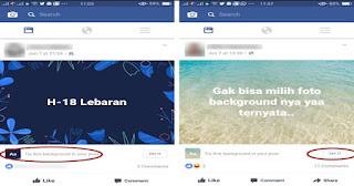 Cara Unik Update Status Facebook, dengan Latar Belakang Foto Indah Pemandangan