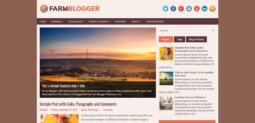 FarmBlogger Free Blogger Template