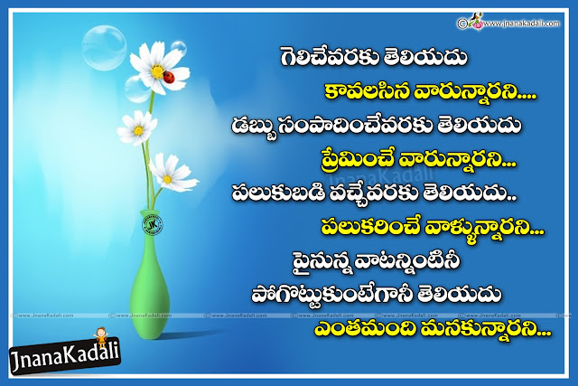 TElugu Quotes on life, Telugu messages on life, Success life Quotes in Telugu