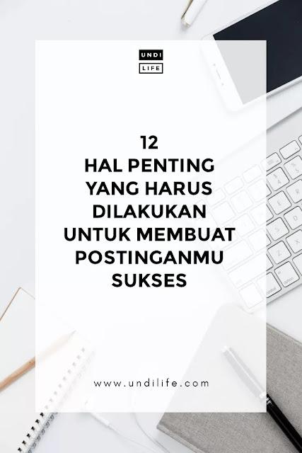 Post blog sukses