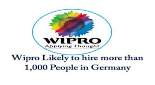 Wipro Ltd recently announced that very soon it will hire more than 1,000 people in next three years in Germany.