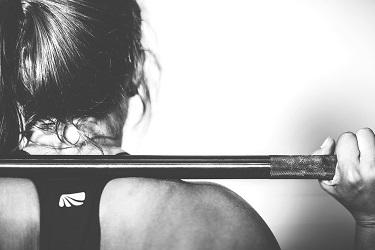 a woman doing workout