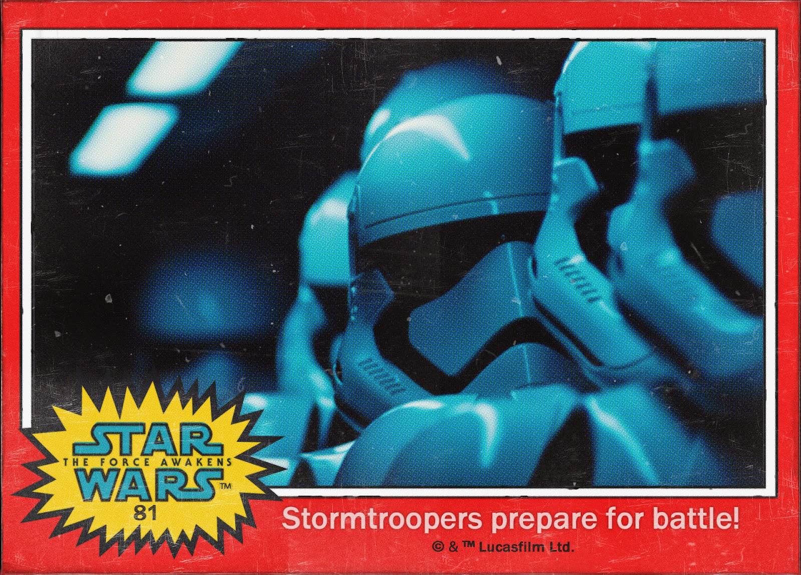 stormtroopers prepare for battle card