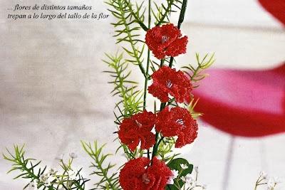 Flor de Almendro en Crochet Instrucciones