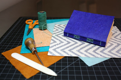 Bookbinding workshop taught by Katie Gonzalez