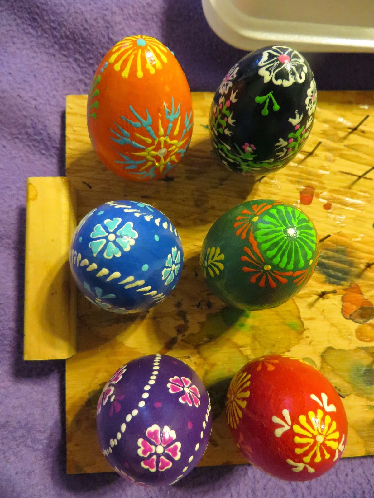 Six Boxes Of Yarn How To Make Wooden Egg Pysanky For Kids
