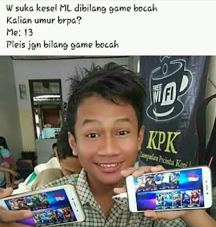 Meme sindiran Mobile Legends game bocah