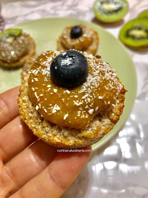Mini tartitas de avena y coco veganas