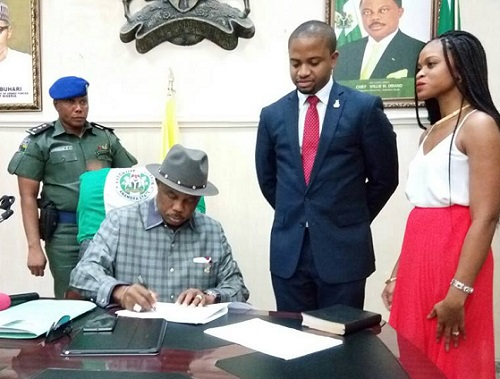 Anambra Swears-In Youngest Commissioner, See Photos