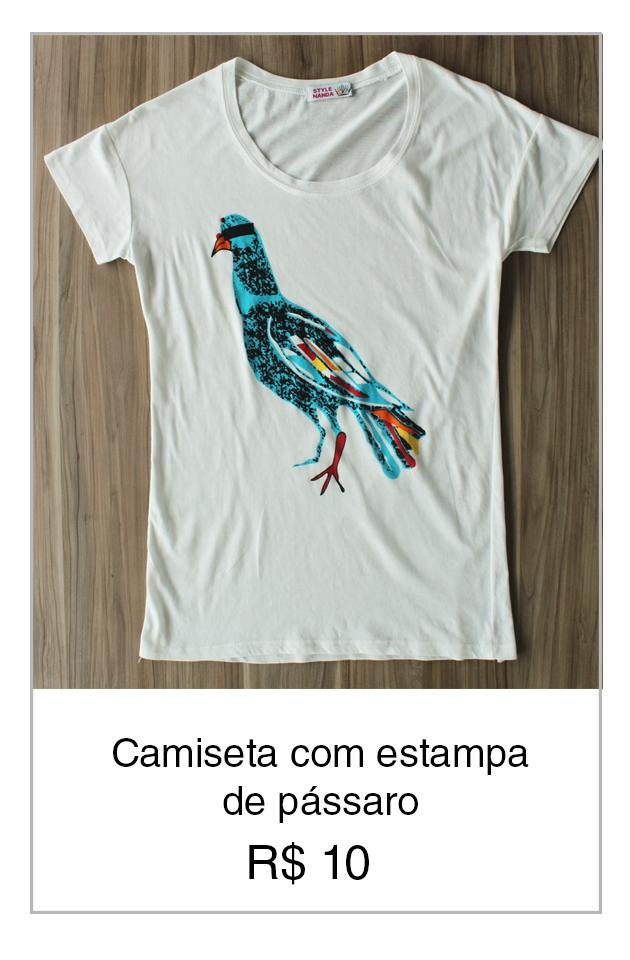 Camiseta de pássaro