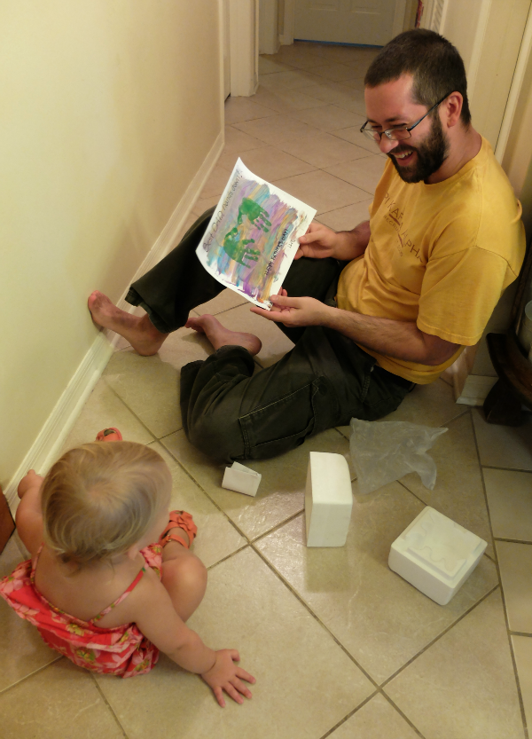 Giving Dad Toddler Art