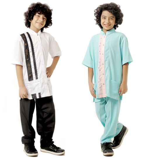 contoh baju koko anak rabbani