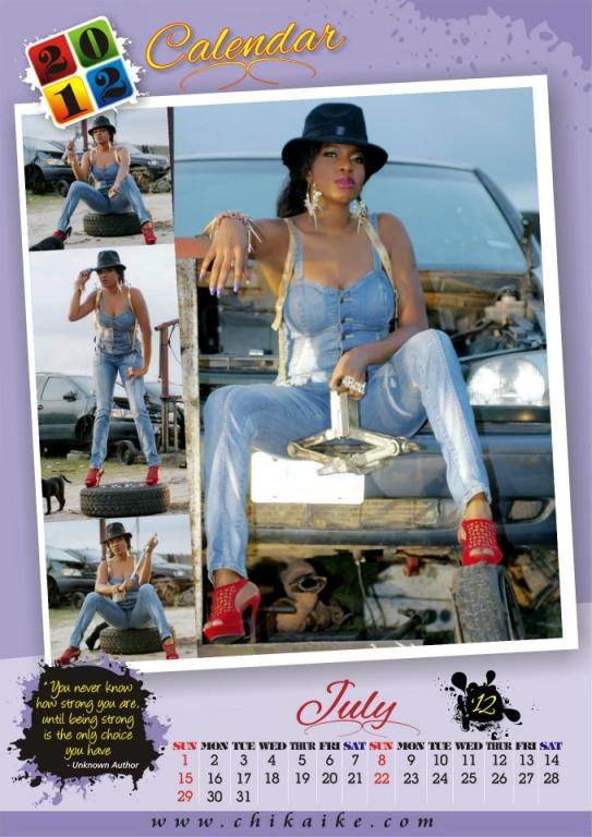 Too Late?? Actress Chika Ike Unveils 2012 Calendar. 8