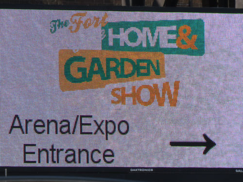 Fort Wayne Home and Garden Show sign
