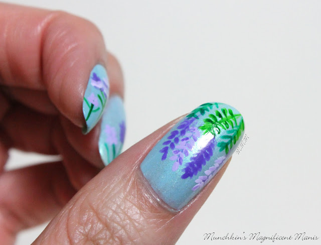 Lilac and Lavender Nail Design