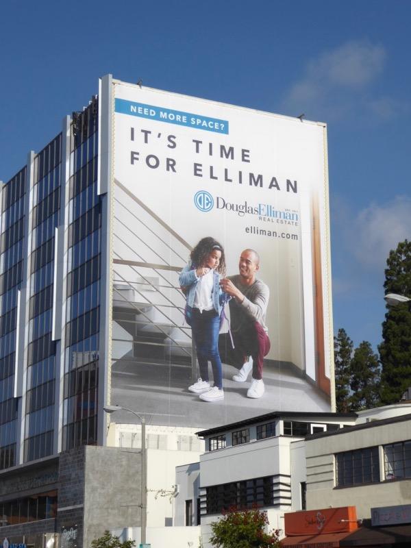 Giant Douglas Elliman Real Estate billboard