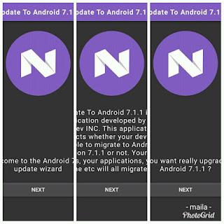 cara upgrade android nougat