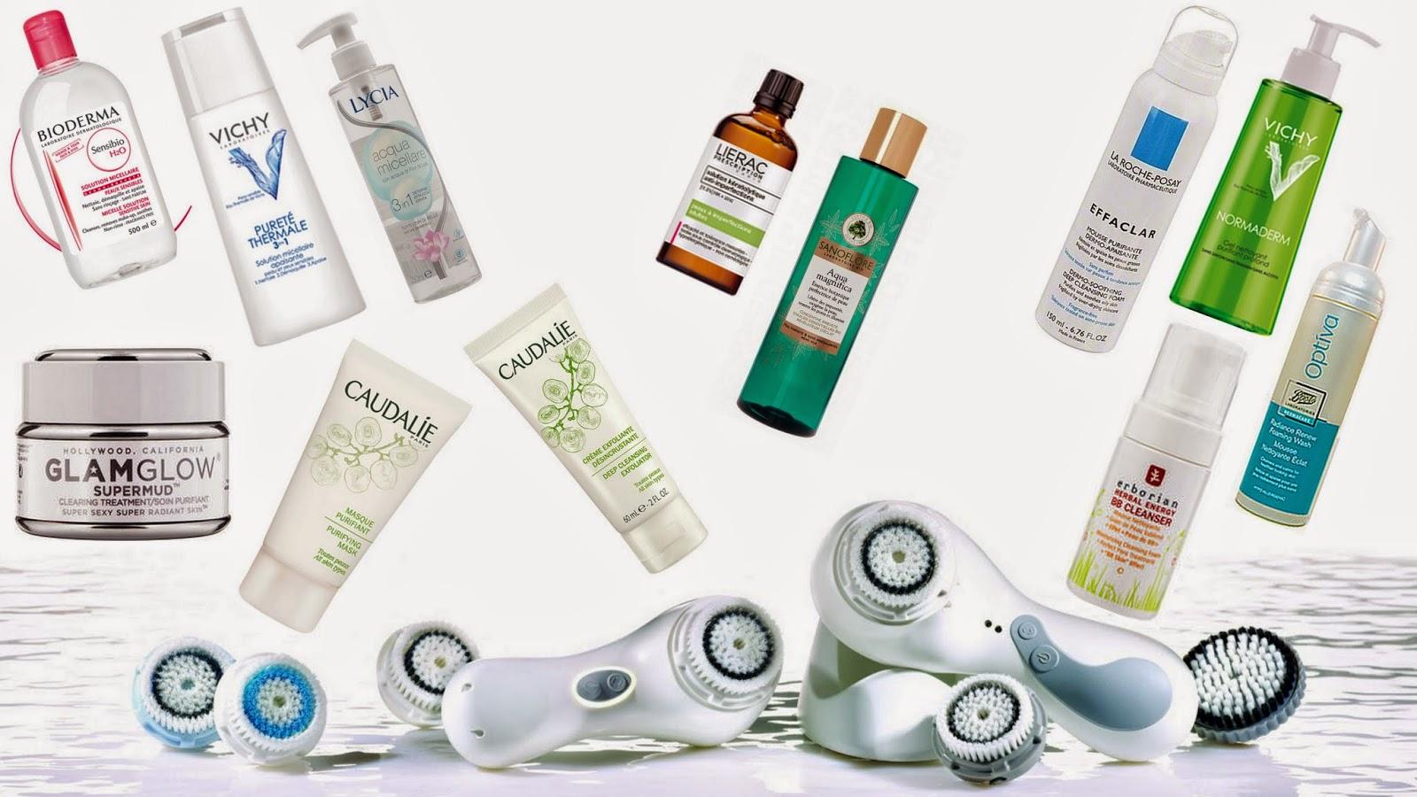 Prodotti per la pulizia del viso con pelle grassa e acne