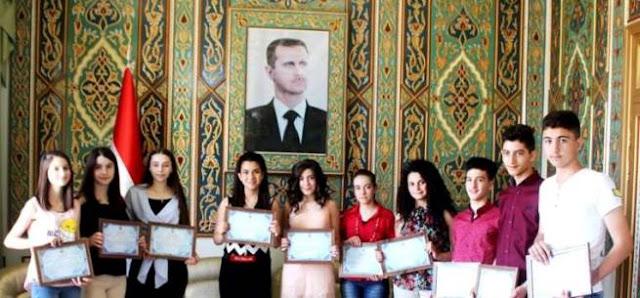 تكريم الأوائل في شهادة التعليم الأساسي بمحافظة السويداء .