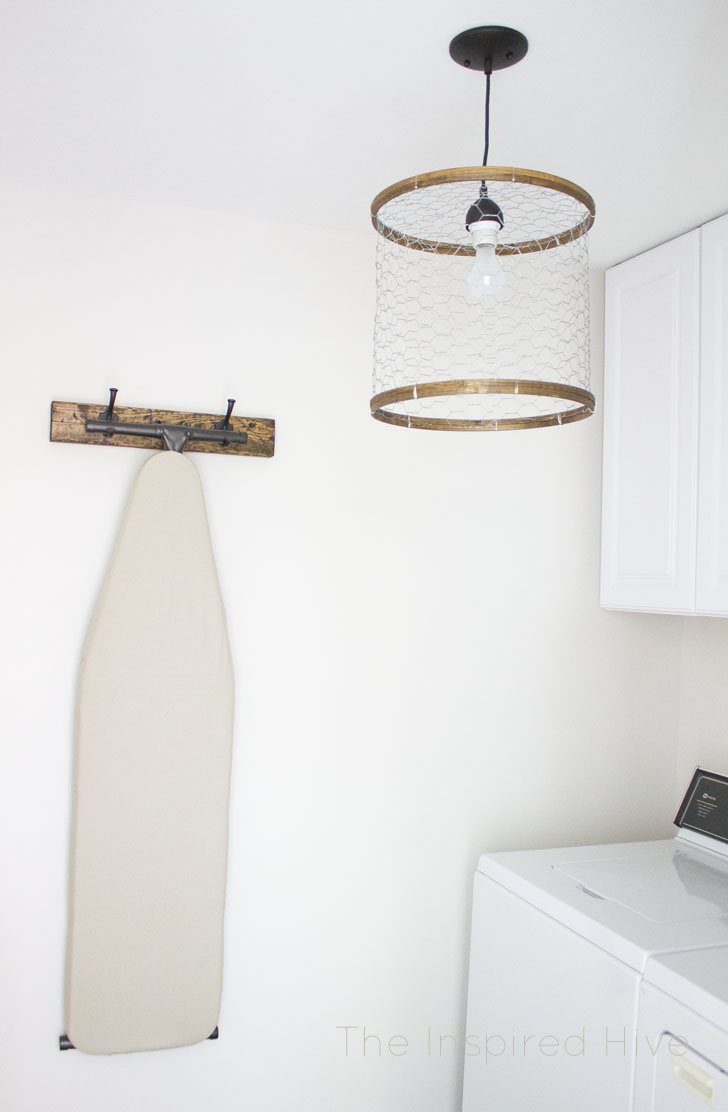 DIY Chicken Wire Light Fixture | The Inspired Hive