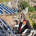Polychrome stones decorate humble house into fairytale castle