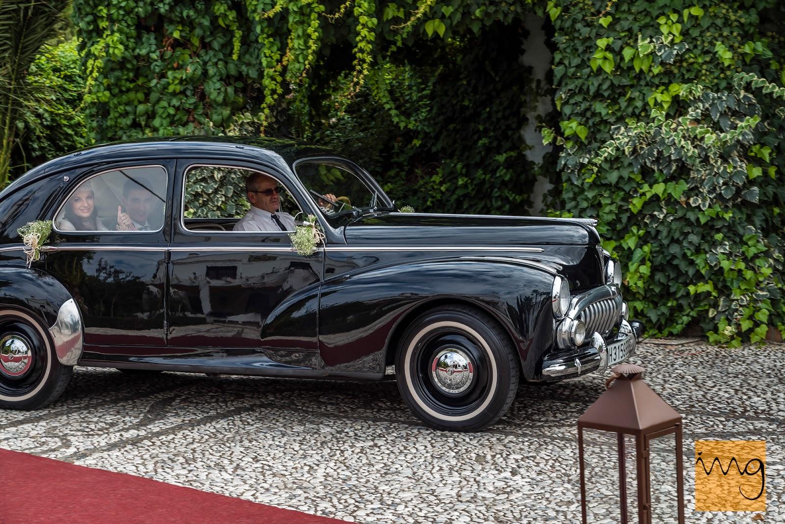 Fotografía de boda en Granada, llegada al Caballo Blanco