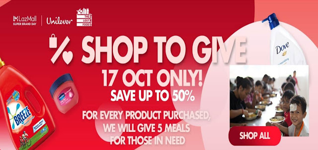 Shop to Give on Super Brand Day