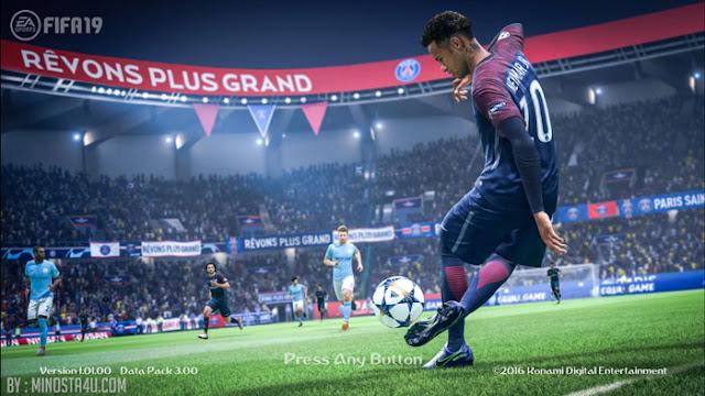 PES 2017 Official FIFA 19 Startscreen
