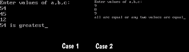 Two Cases of Output