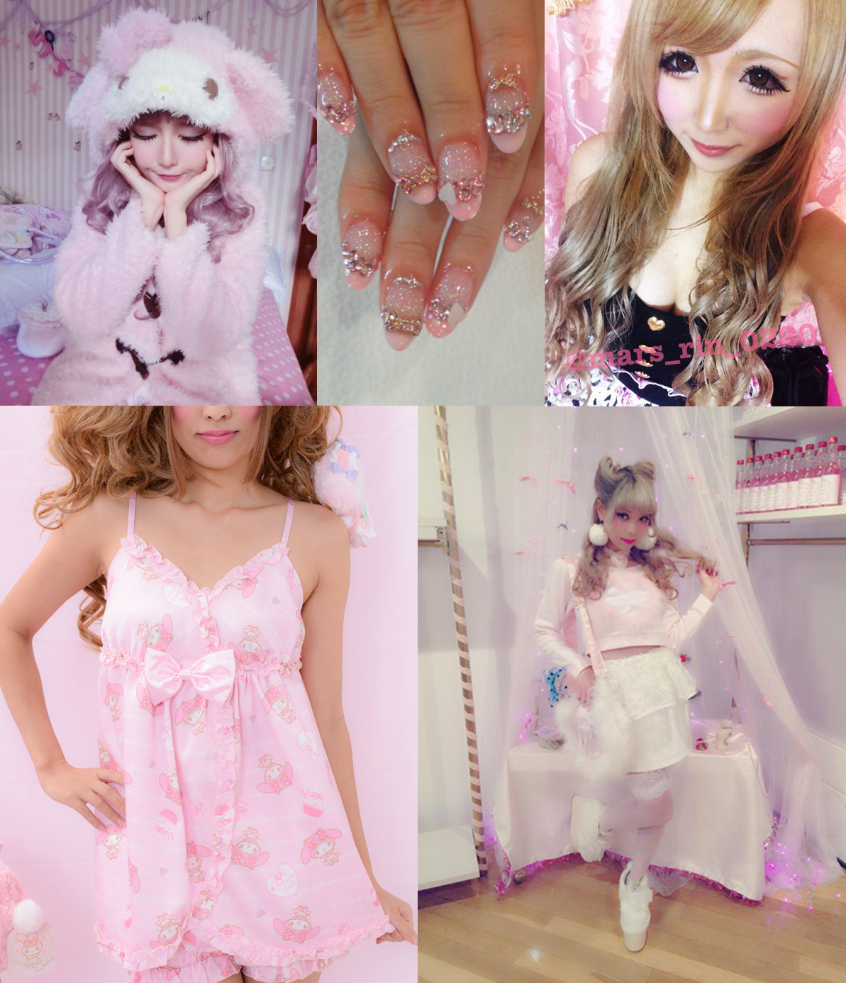 gyaru styles collage