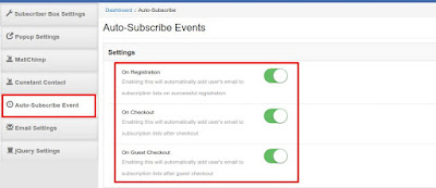 Automatic email address capture in Magento Auto Subscribe extension