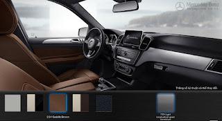 Nội thất Mercedes GLE 400 4MATIC 2017 màu Nâu Saddle (224)