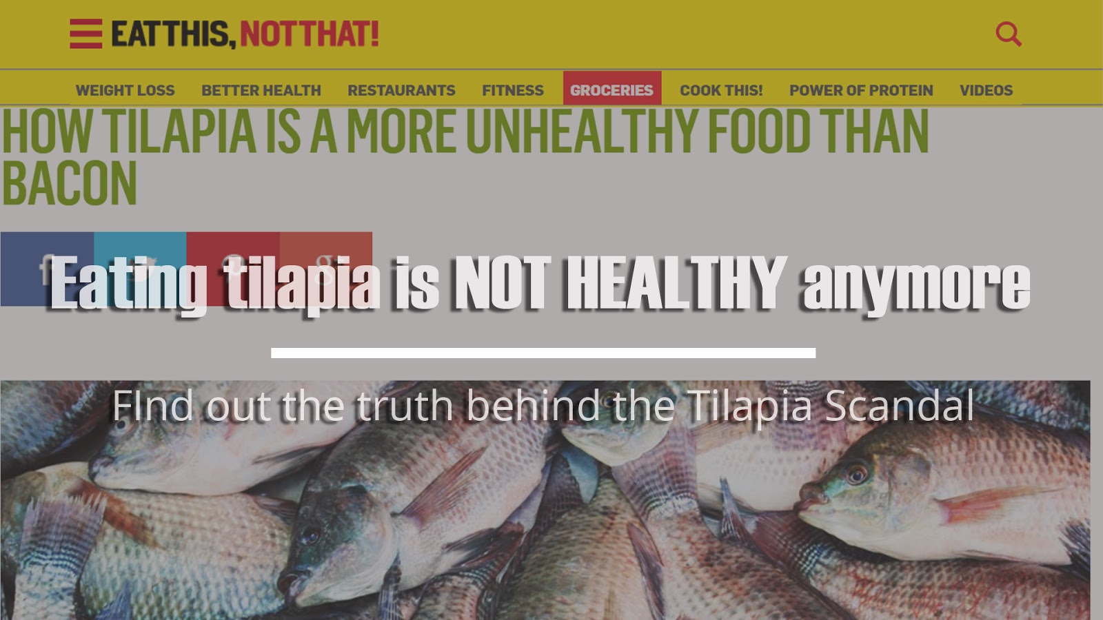 Tilapia scandal eating tilapia is not healthy anymore for Tilapia not real fish
