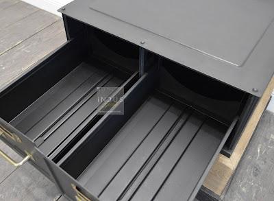 Bout de canapé métal et bois