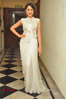 Actress Pragya Jaiswal Stills in Beautiful White Dress at turodu Audio Launch  0066.JPG
