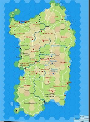 Sardinia Campaign Map