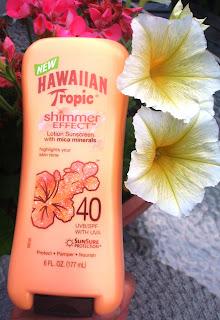 sunscreen with yellow petunias