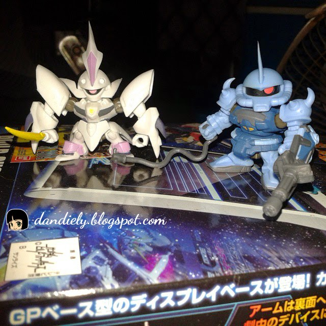 Vertigo and Gouf gashapon